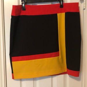 Worthington Gold/Red/Black Combo Skirt